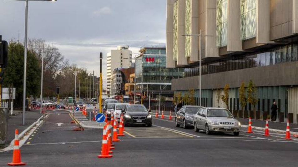 Road change makes for easier access to central Christchurch car parks